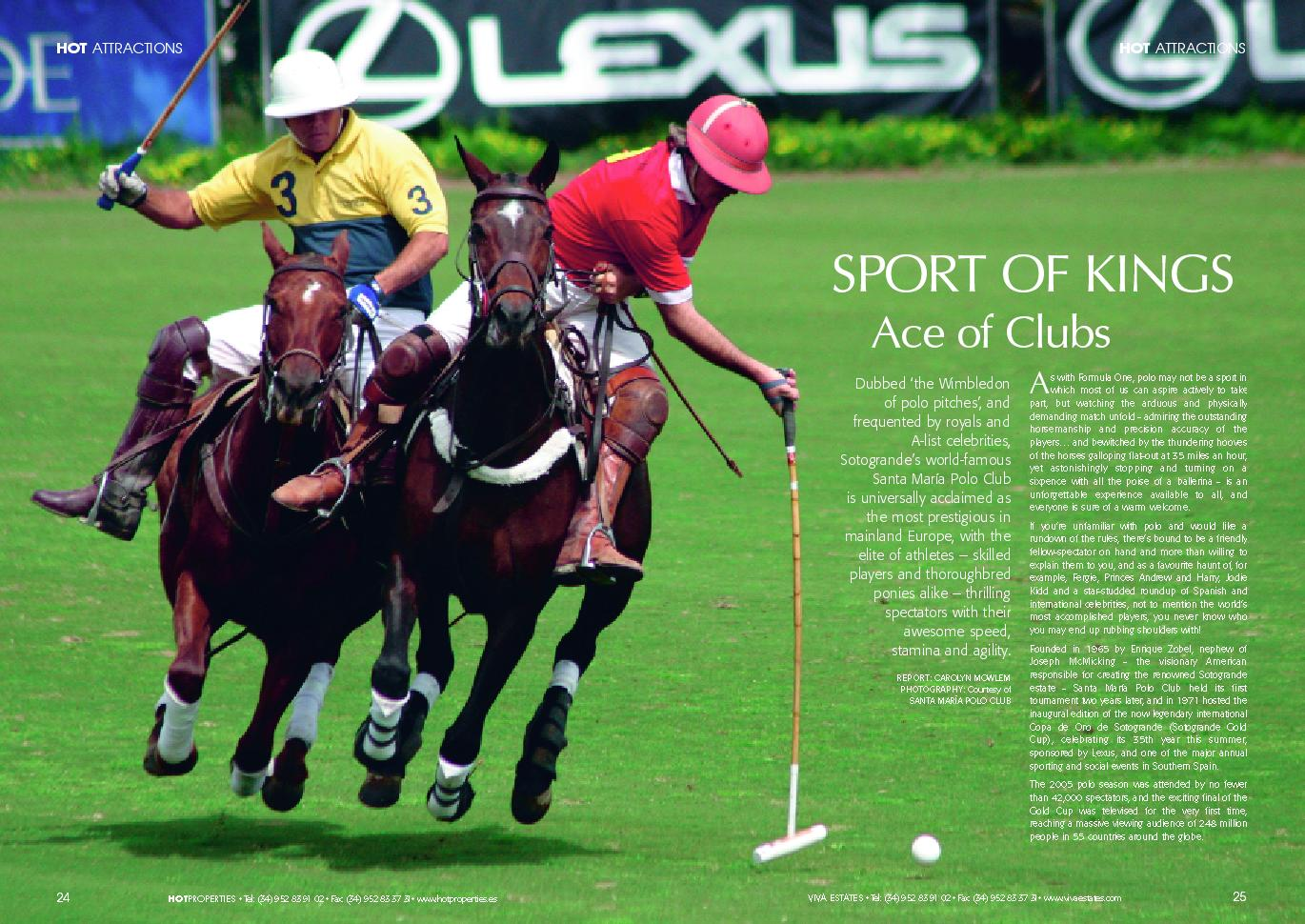 Sport of Kings - Santa María Polo Club - Sotogrande | HOT Properties Magazine Archive thumb image